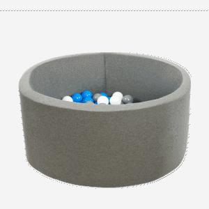 Suchy basen - okrągły - szary marmurek - 1