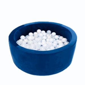 Suchy basen - okrągły - niebieski velvet