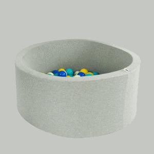 Suchy basen - okrągły - jasny marmurek - 1