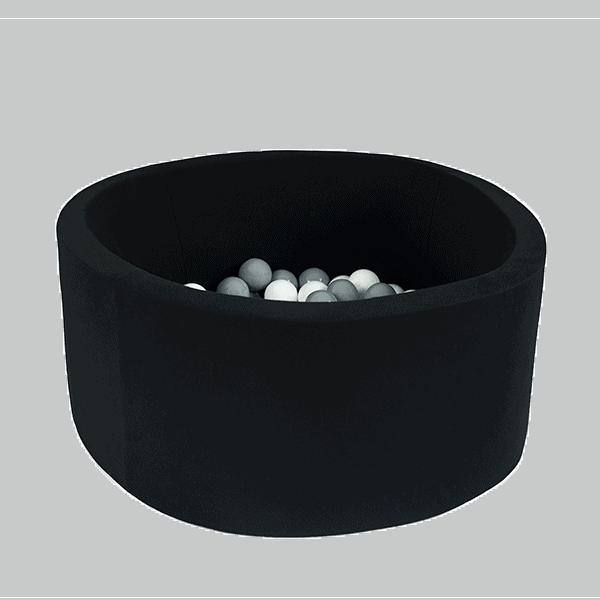 Suchy basen - okrągły - czarny - 2