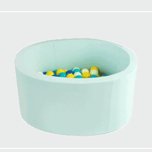 Suchy basen - okrągły - jasnomiętowy - 1