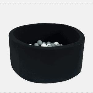 Suchy basen - okrągły - czarny - 4