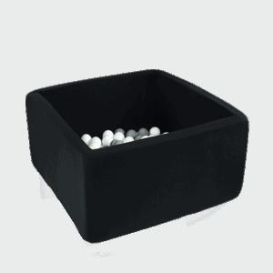 Suchy basen - kwadratowy - czarny - 1