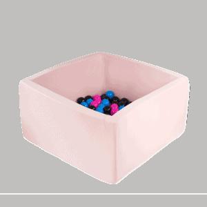 Suchy basen - kwadratowy - jasnoróżowy - 3