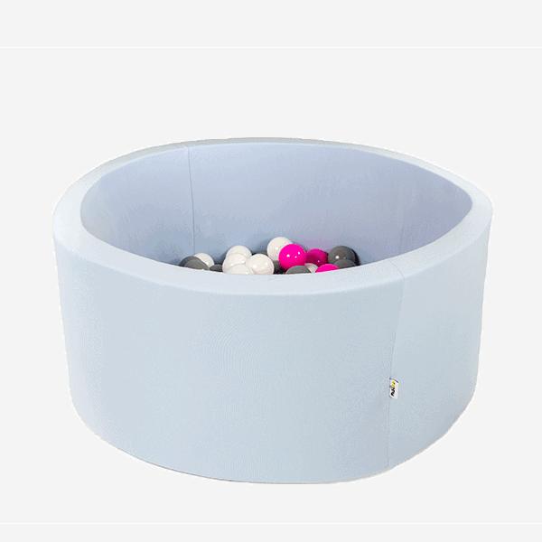 Suchy basen - okrągły - liliowy - 1