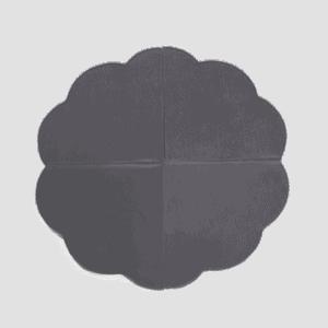 Mata podłogowa - kwiatek - szara velvet