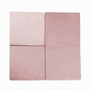 Mata podłogowa - kwadratowa - różowa velvet