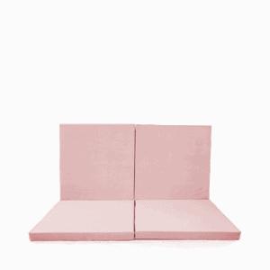 Mata podłogowa złożona - kwadrat - różowa velvet