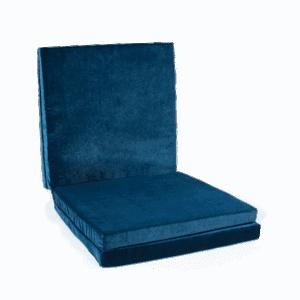 Mata podłogowa złożona - kwadratowa - granatowa - 1