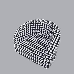 Fotel dziecięcy - biało-czarny wzór