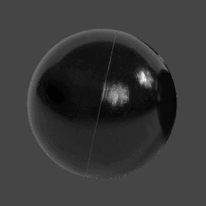 Piłeczka do basenu - czarna