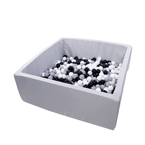 Suchy basen - kwadratowy - jasnoszary