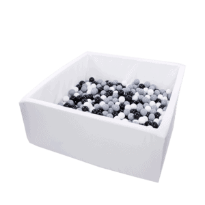 Suchy basen - kwadratowy - biały - 1