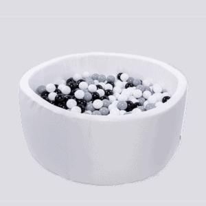 Suchy basen - okrągły - biały