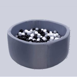 Suchy basen - okrągły - grafitowy
