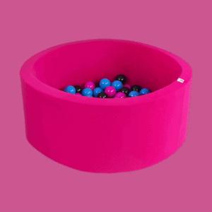 Suchy basen - okrągły - intensywnie różowy