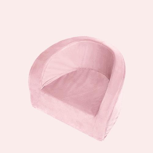 Fotelik różowy - velvet