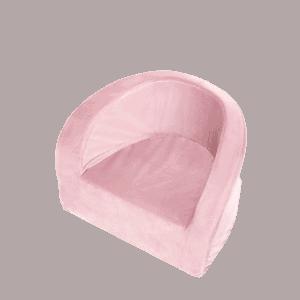 Fotel dziecięcy - różowy velvet