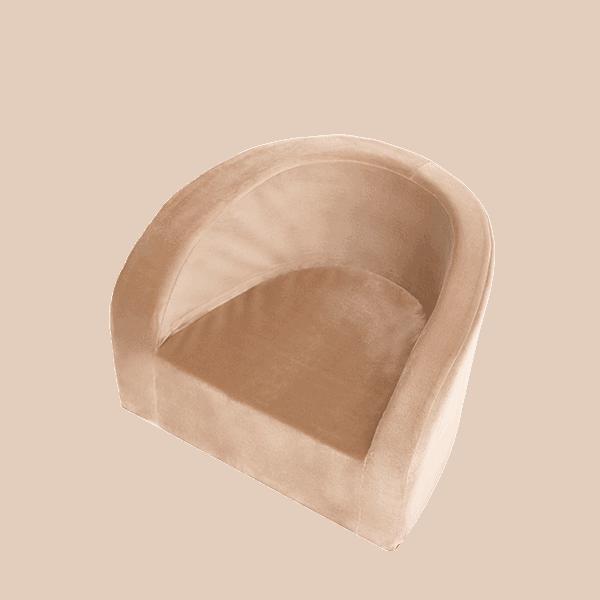 Fotelik dziecięcy - złoty - velvet