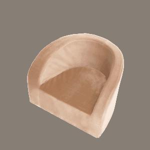 Fotel dziecięcy - jasnobrązowy - velvet