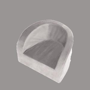 Fotel dziecięcy - szary - velvet