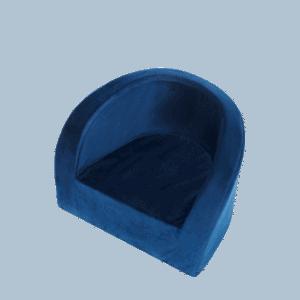 Fotel dziecięcy - granatowy - velvet