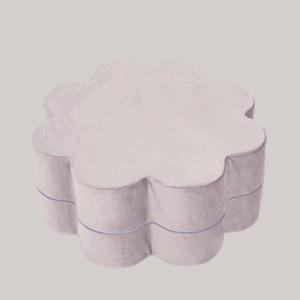 Pufa - kwiatek - różowa velvet