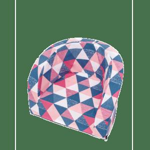 Fotel dziecięcy - granatowo-różowe trójkąty