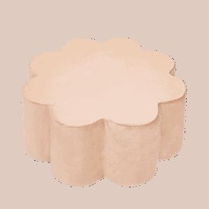 Pufa - kwiatek - złota velvet