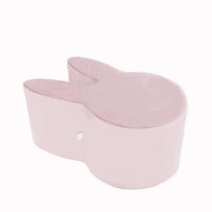 Pufa - króliczek - różowa velvet