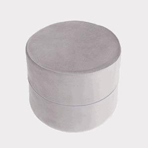Pufa - okrągła - szara velvet