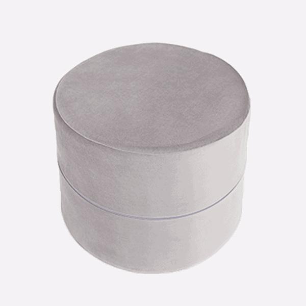 pufa szara - okrągła