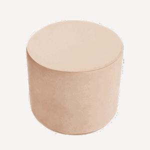 Pufa - okrągła - złota velvet