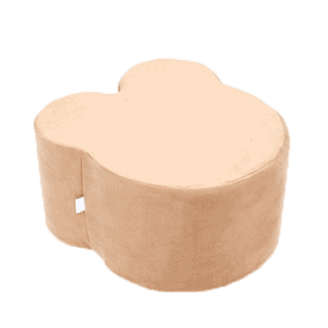 Pufa - miś - złoty velvet
