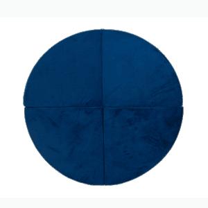 Mata podłogowa - okrągła - granatowa velvet
