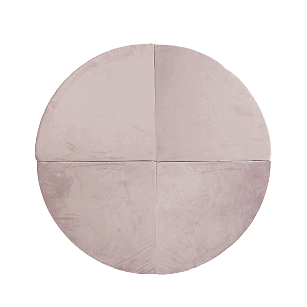 Mata podłogowa - okrągła - różowa velvet