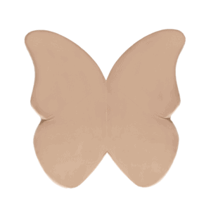 Mata podłogowa - motylek - złota velvet