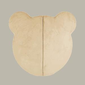 Mata podłogowa - miś - złota