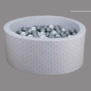 Suchy basen - okrągły - szary złoty wzór