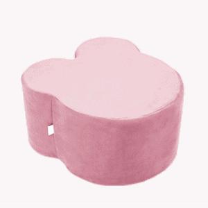 Pufa - miś - różowy velvet