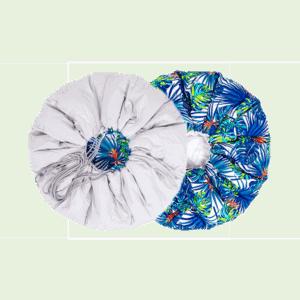Mata worek - szara i w liście palmy
