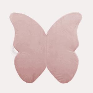 Mata podłogowa - motylek - jasnoróżowa