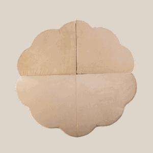 Mata podłogowa - kwiatek - złota velvet