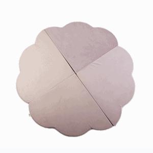 Mata podłogowa - kwiatek - różowa velvet