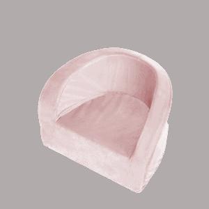 Fotel dziecięcy - jasnoróżowy - velvet
