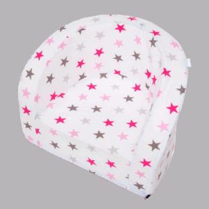 Fotelik dziecięcy - biały w kolorowe gwiazdki