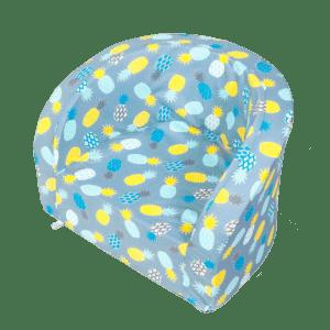 Fotelik - niebieski w żółte ananasy