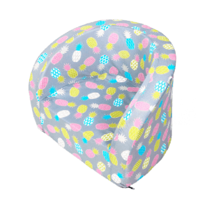 Fotelik dziecięcy - szary w kolorowe ananasy