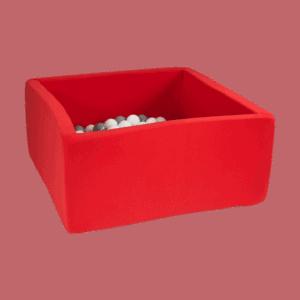 Suchy basen - kwadratowy - czerwony