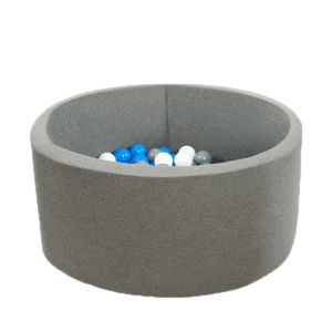 Suchy basen - okrągły - szary marmurek - 7